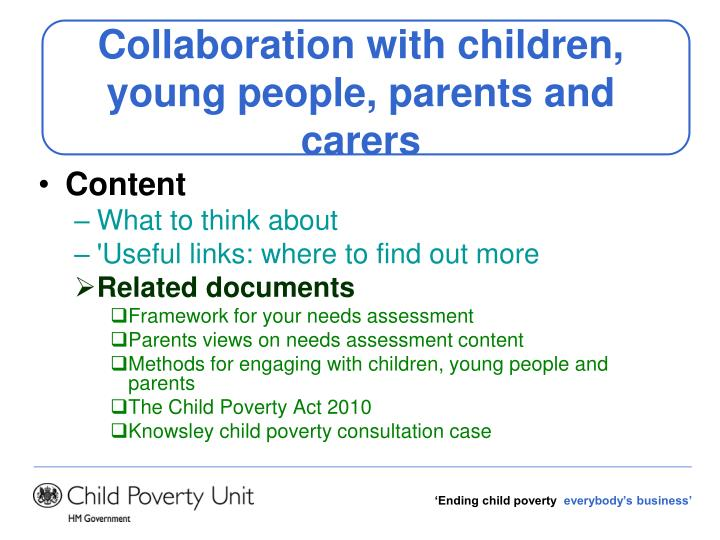 Collaboration with children, young people, parents and carers