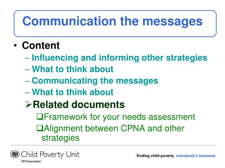 Communication the messages