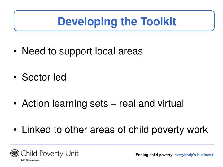 Developing the Toolkit