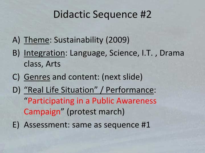 Didactic Sequence #2