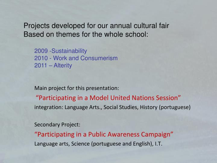 Main project for this presentation: