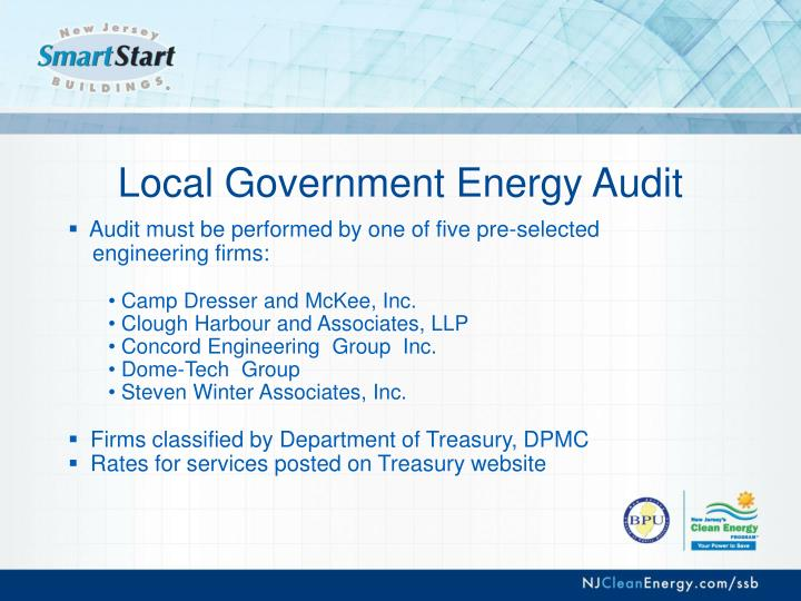 Local Government Energy Audit