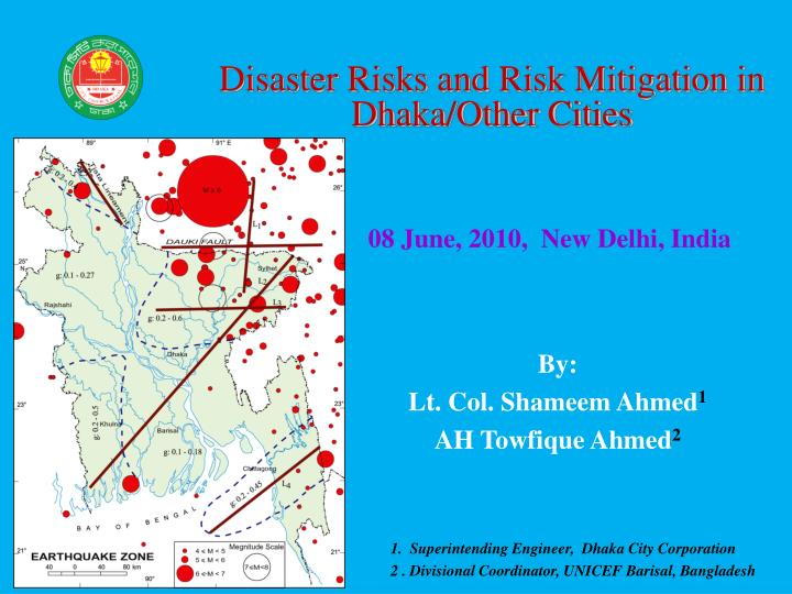 Disaster Risks and Risk Mitigation in