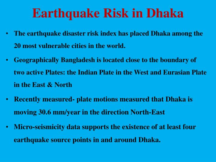 Earthquake Risk in Dhaka