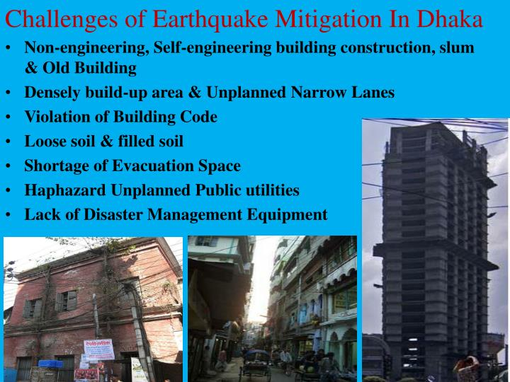 Challenges of Earthquake Mitigation In Dhaka