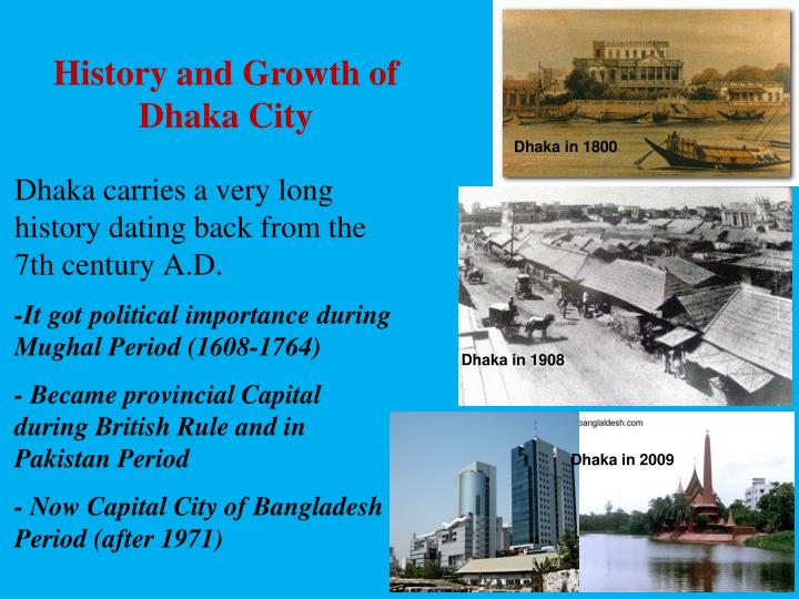History and Growth of Dhaka City