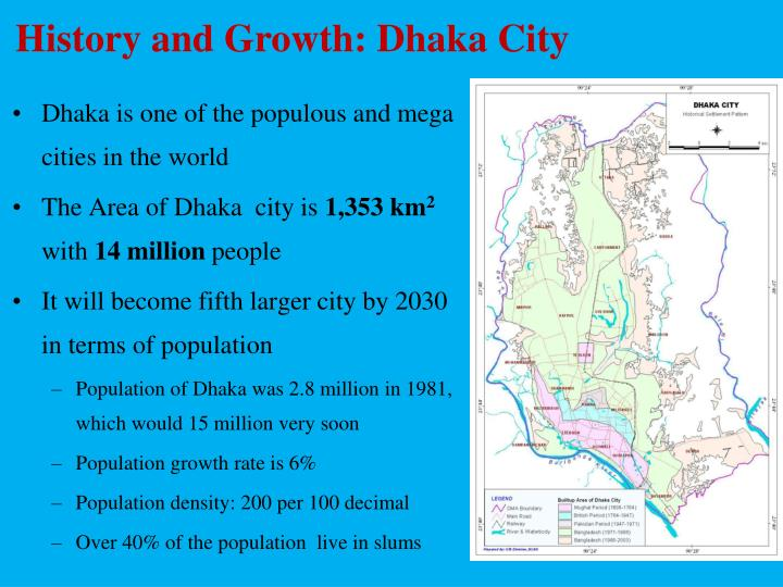 History and Growth: Dhaka City