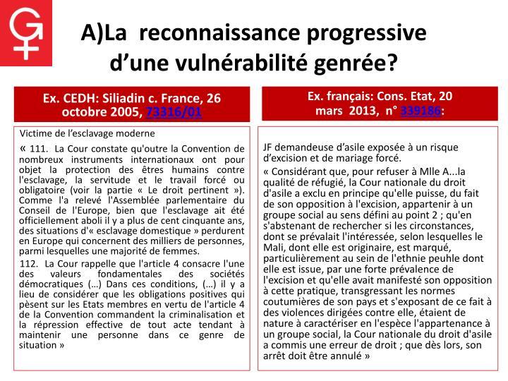 A)La  reconnaissance progressive