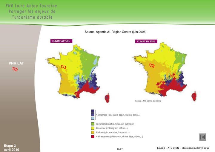 Source: Agenda 21 Région Centre (juin 2008)