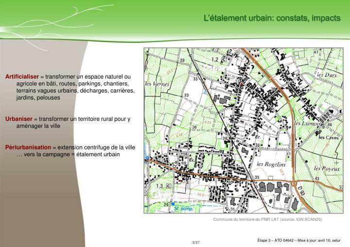 L'étalement urbain: constats, impacts