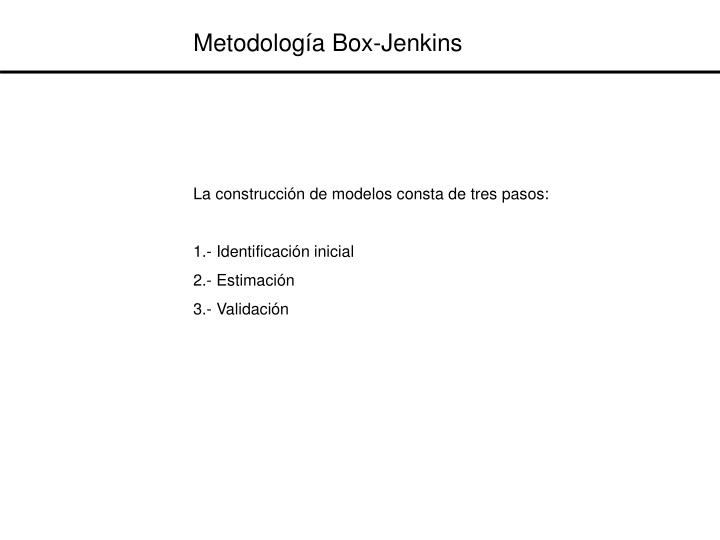 Metodología Box-Jenkins
