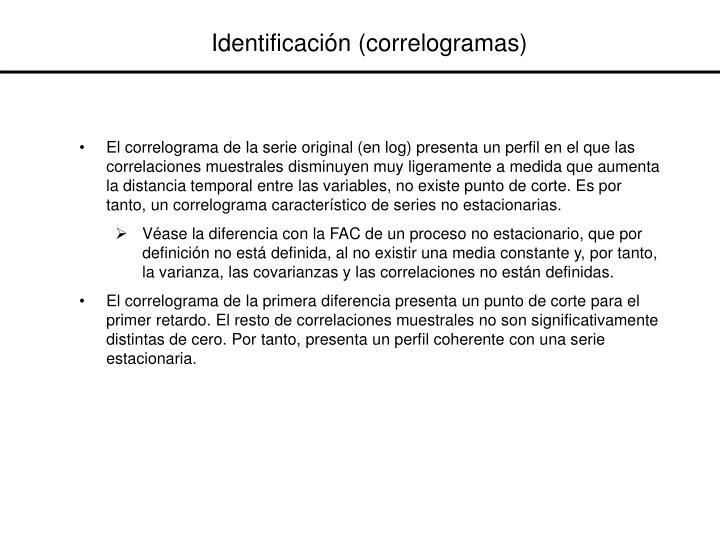 Identificación (correlogramas)
