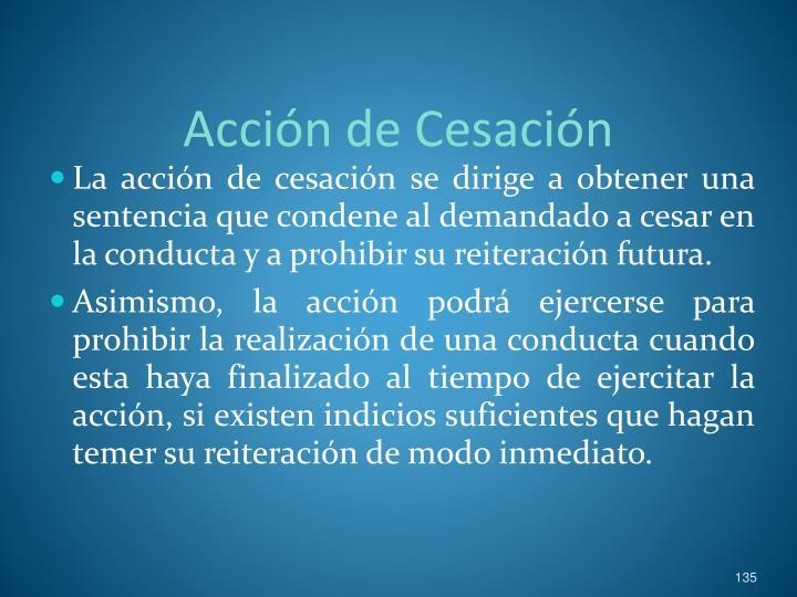 Acción de Cesación