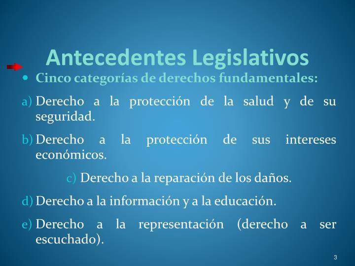 Antecedentes Legislativos