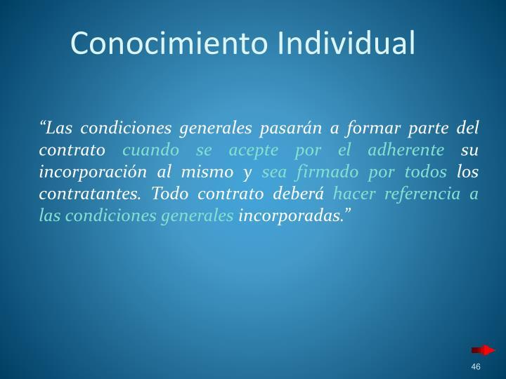 Conocimiento Individual