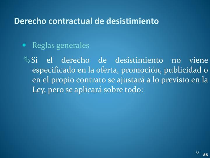 Derecho contractual de desistimiento