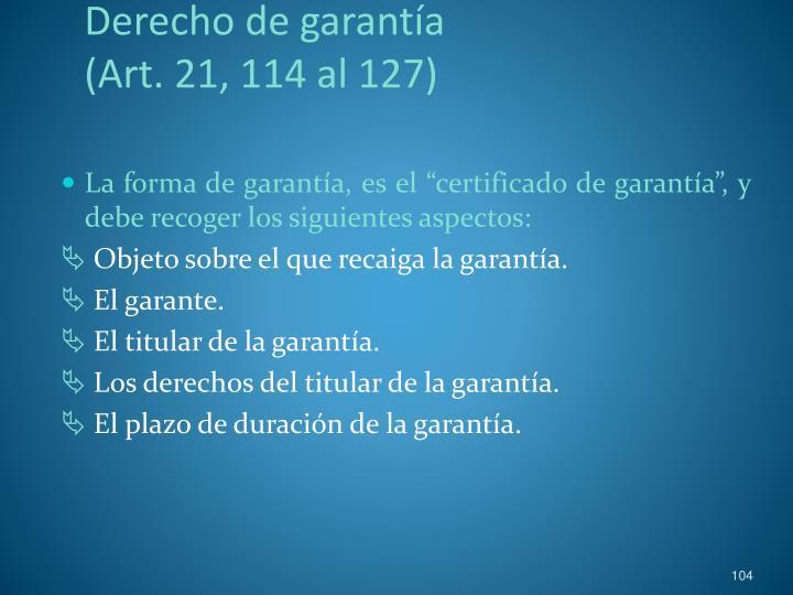 Derecho de garantía