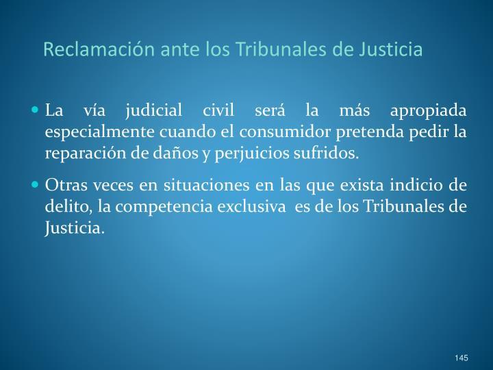 Reclamación ante los Tribunales de Justicia