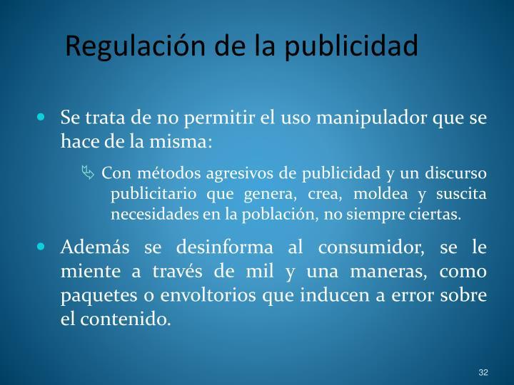 Regulación de la publicidad