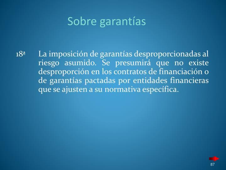 Sobre garantías