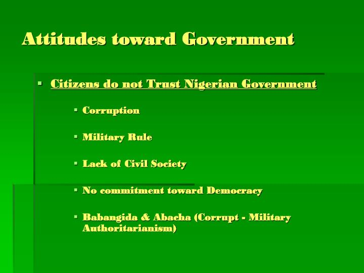 Attitudes toward Government