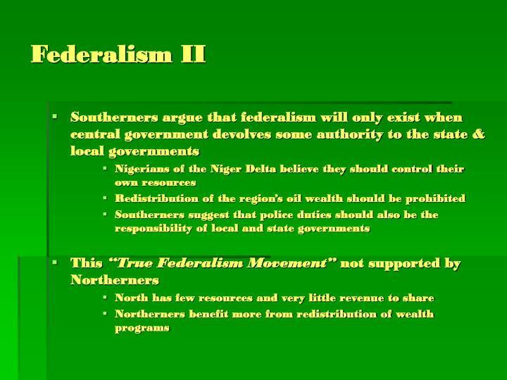 Federalism II