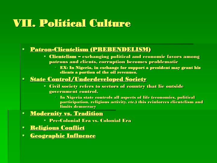 VII. Political Culture