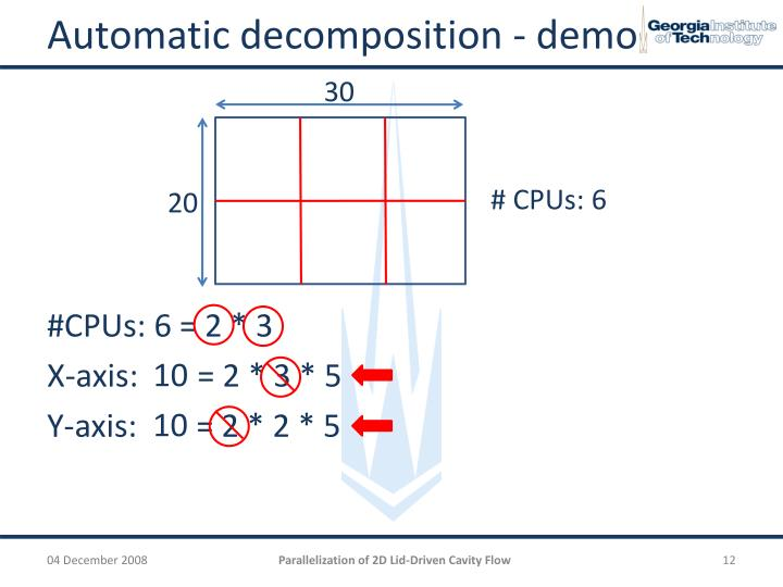Automatic decomposition - demo