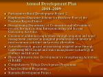annual development plan 2008 2009