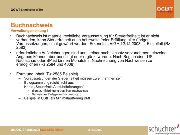 Buchnachweis