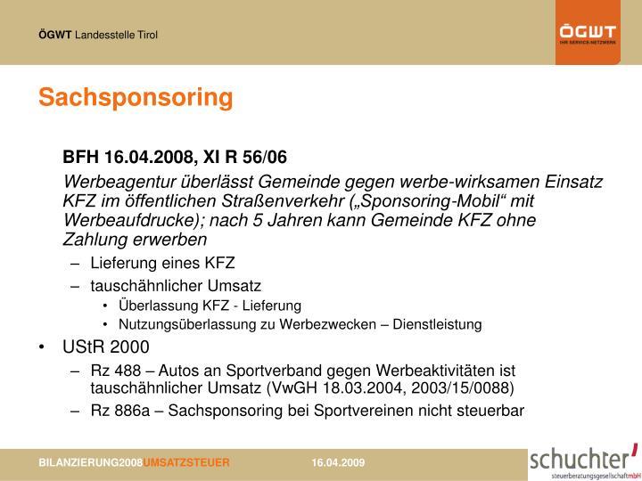 Sachsponsoring