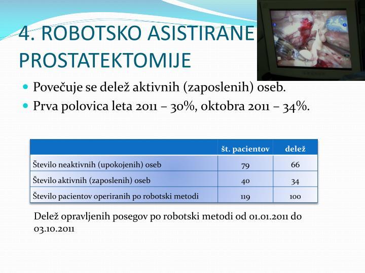 4. ROBOTSKO ASISTIRANE PROSTATEKTOMIJE