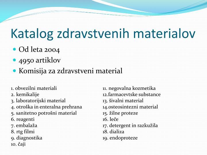 Katalog zdravstvenih materialov