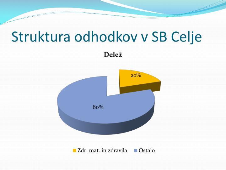 Struktura odhodkov v SB Celje
