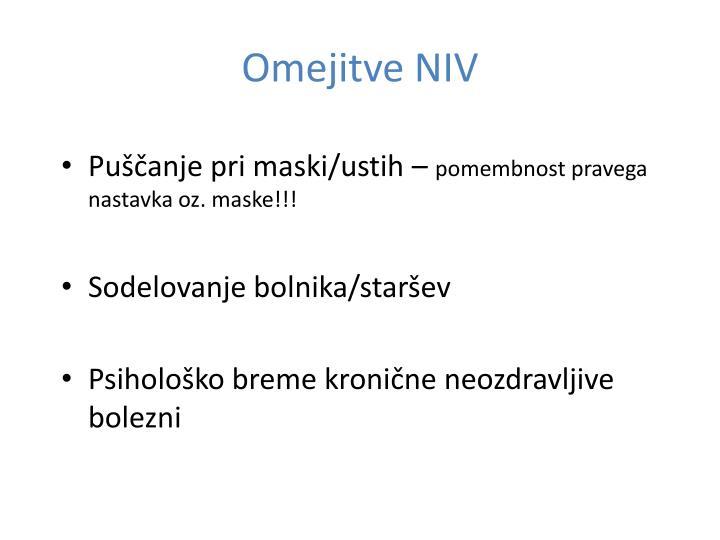 Omejitve NIV