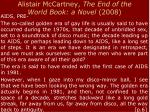 alistair mccartney the end of the world book a novel 20081