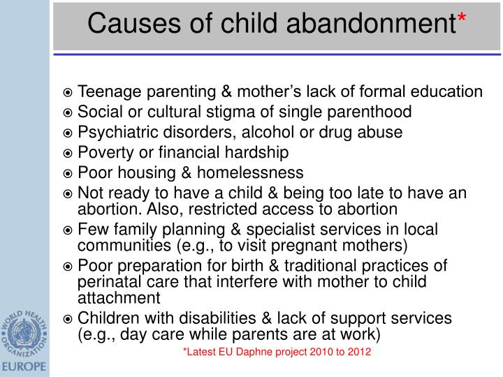 Causes of child abandonment
