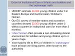 extent of institutional care of infants and toddlers and the orphanage myth