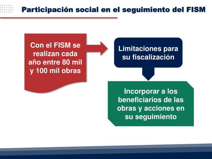 Participación social en el seguimiento del FISM