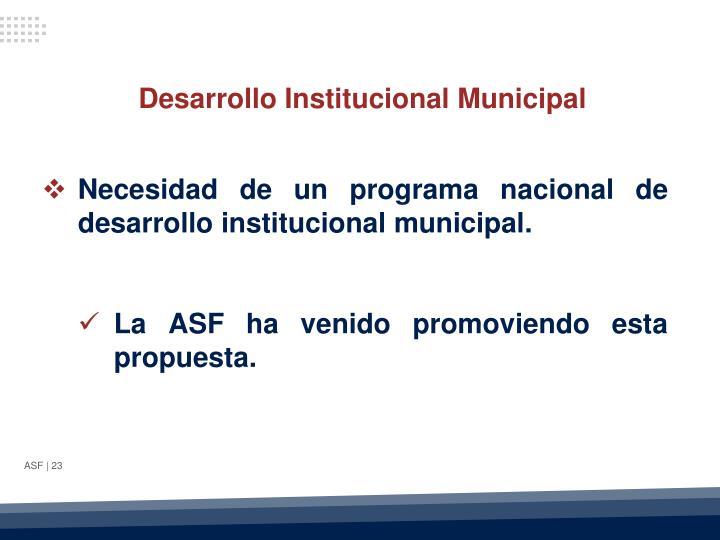 Desarrollo Institucional Municipal