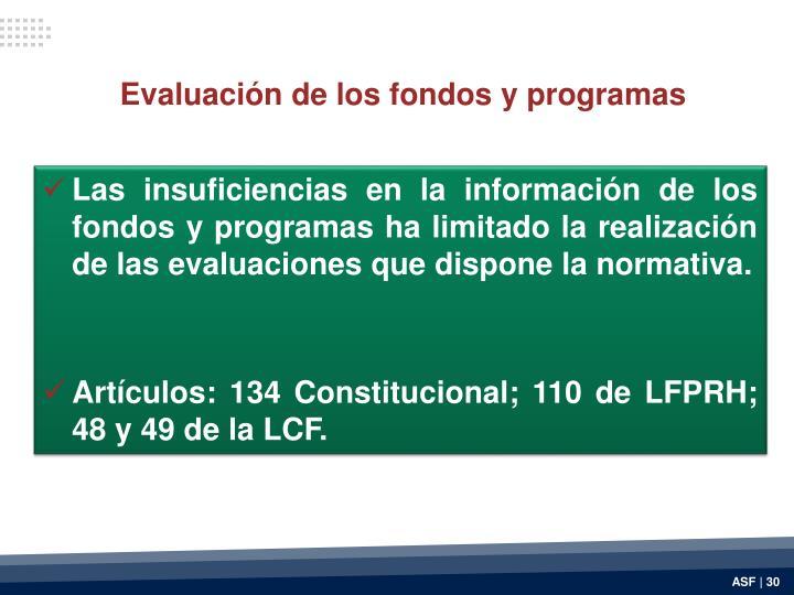 Evaluación de los fondos y programas