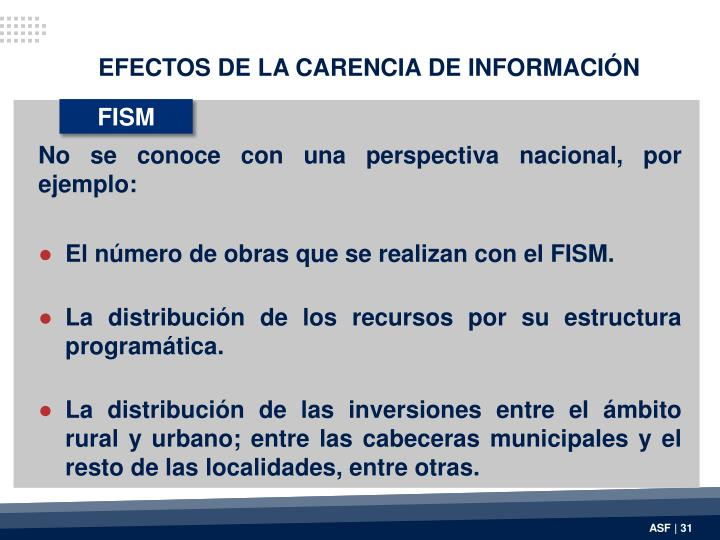 EFECTOS DE LA CARENCIA DE INFORMACIÓN