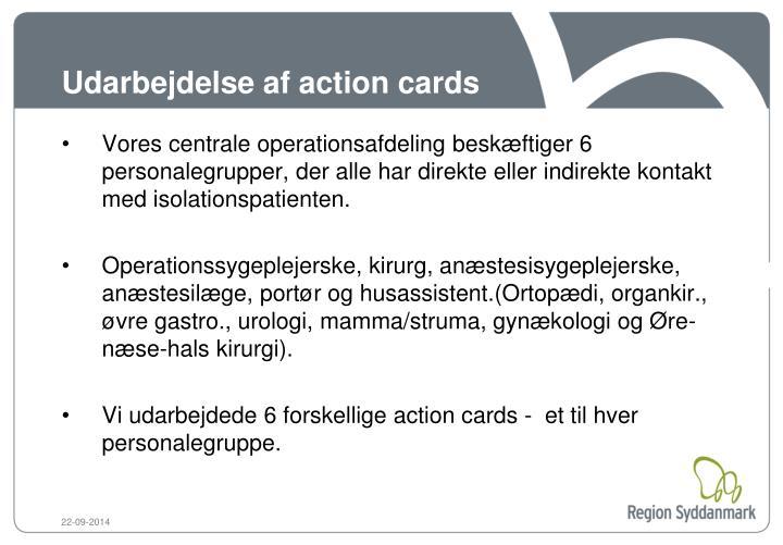 Udarbejdelse af action cards