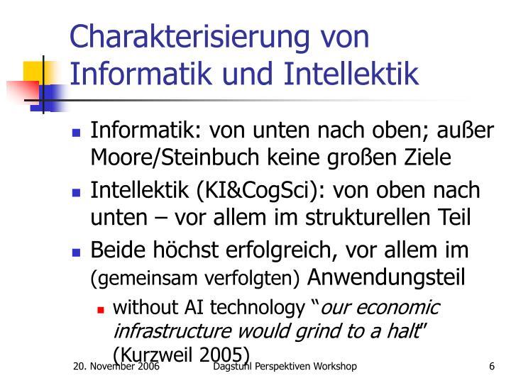 Charakterisierung von Informatik und Intellektik