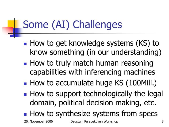 Some (AI) Challenges
