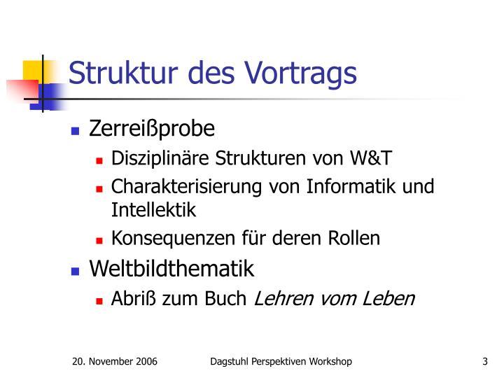 Struktur des Vortrags
