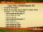 can you understand it2