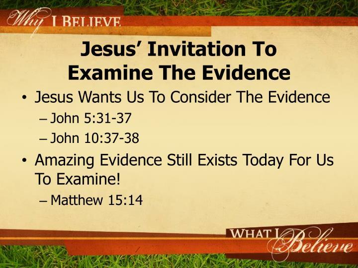 Jesus' Invitation To