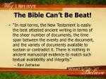 the bible can t be beat