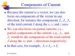 components of current